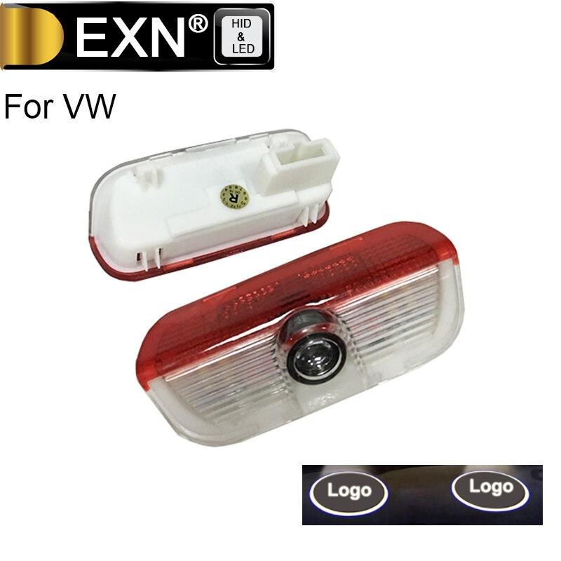 LED Car Door Step Courtesy Laser Projector Shadow Logo Light Lamp For VW TIGUAN Golf CC Curtesy Light Good Quality