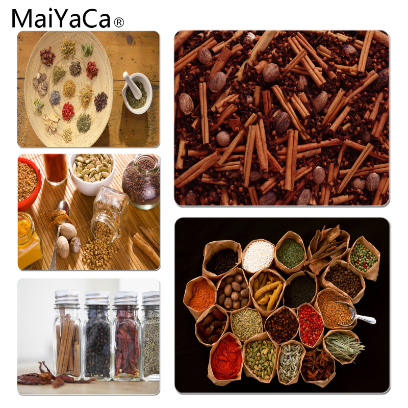 MaiYaCa Spices Large Mouse pad PC Computer mat Size for 18x22x0.2cm Gaming Mousepads