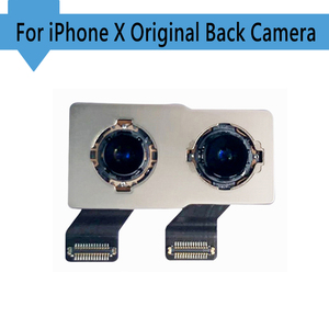 Image 1 - 100% oryginalny nowy powrót tylna kamera dla iPhone X powrót moduł aparatu Flex Cable wymiana część (testowane OK) darmowa wysyłka