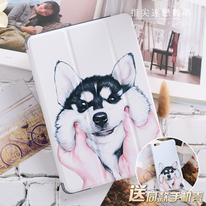 For New ipad 9.7 2017 Girl Love Cute Dog Smart Cover For iPad Pro 9.7 10.5 Air Air2 mini 1 2 3  4 7.9 tablet Case Flip Cover
