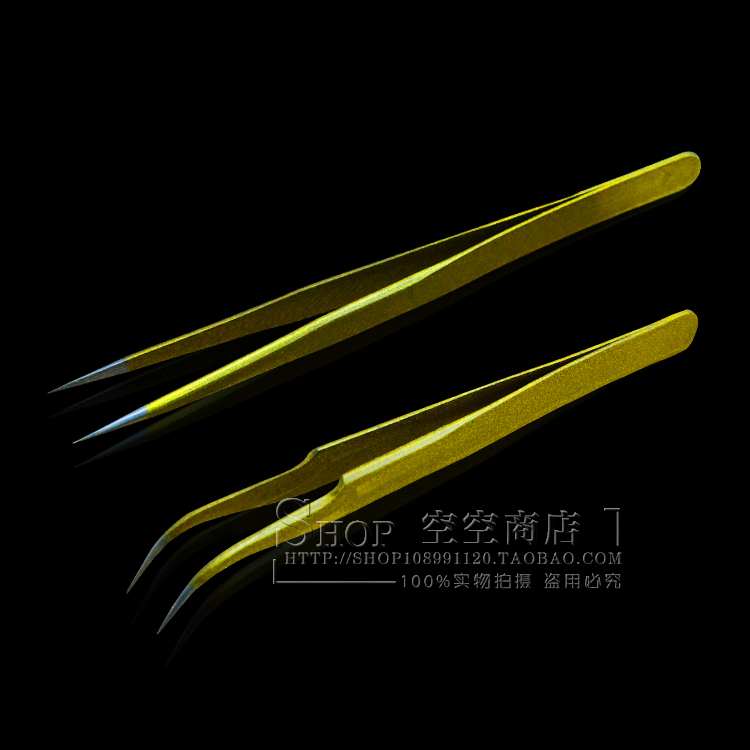 Pro 2pcs Eyelash Extension Nipper Anti Acid Steel Tweezers Curved Straight Nail Tools Eyelash False Piking Makeup Toolsdiy445141