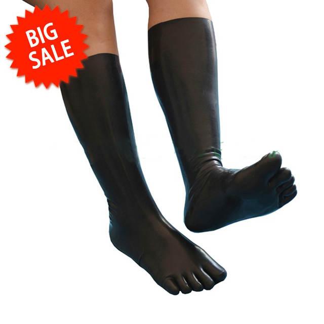 76ae757e87b Latex Toesock 35CM Latex toe socks Latex Rubber Knee Long Five Toe Sock