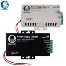 12VDC 3A/5A 電源スイッチコントローラ AC90V 260V すべての電動ドアロック時間遅延黒 K80 アクセス制御システム