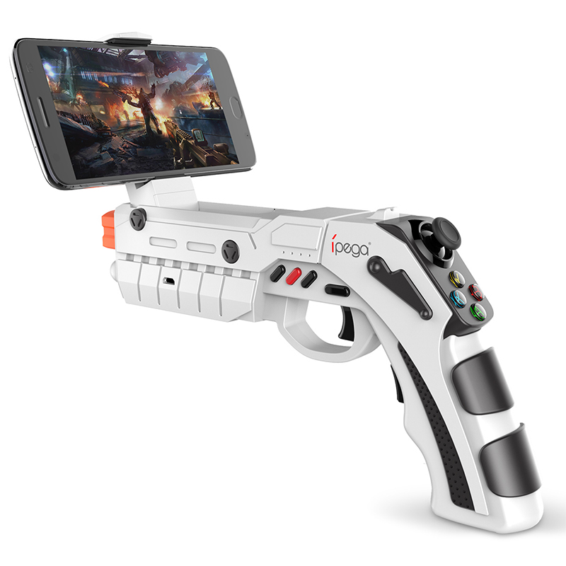 Ipega PG-9082 AR VR Game Gun Bluetooth Gamepad Shooting with Vibration Virtual Augmented Reality Joystick for Android / IOS
