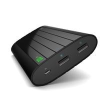 Vinsic Black 20000mAh Power Bank Smart Identification Dual USB External Battery Charger for iPhone X 8 8 Plus Samsung Xiaomi HTC