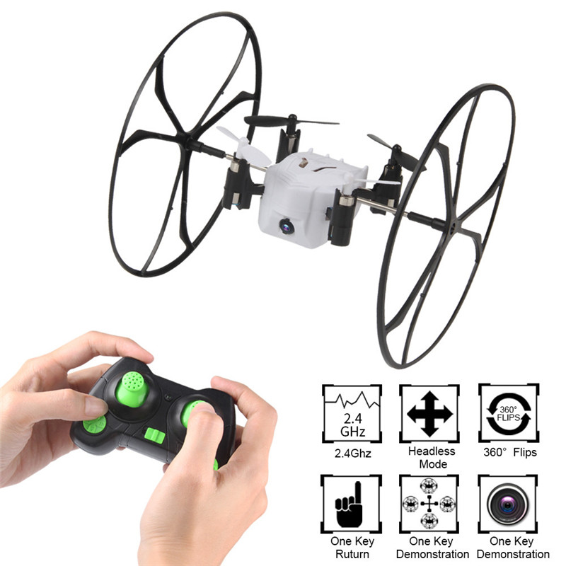 Mini Drone Helic Max Ciel Marcheur 2.4 ghz 4CH Ballon RC Quadcopter 3D Flip Rouleau Sans Tête Drone avec caméra RC jouet Ensembles 45