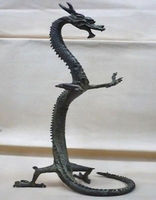 Exquisite Chinese bronze dragon statue / 17Height