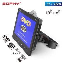 """10,"""" цифровой TFT светодиодный экран авто подголовник монитор USB/TF DVD видео плеер Встроенные динамики IR/FM/HDMI/игры HDMI SH1068DVD"""