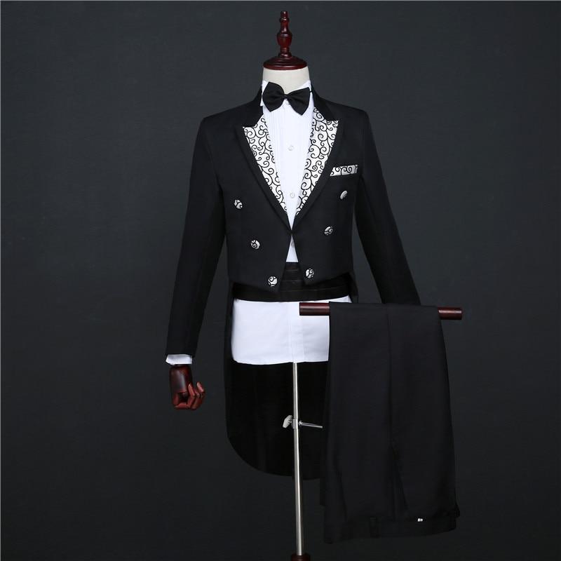 Smoking Magie Hochzeit Abschlussball formelle Anzüge Bräutigam - Herrenbekleidung - Foto 2