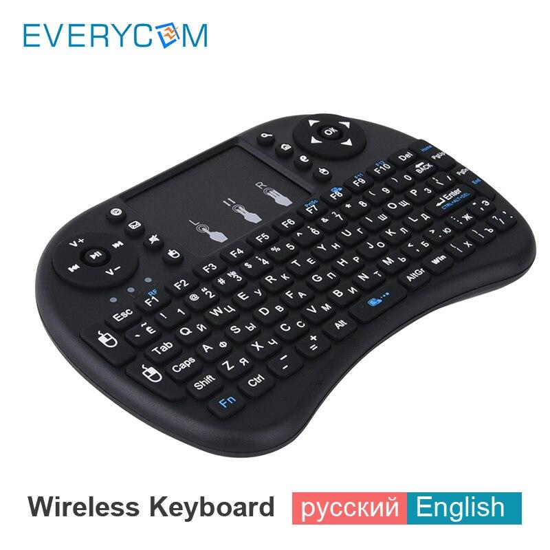 Everycom Projektor Zubehör I8 Russische Englisch 2,4 Ghz Drahtlose Tastatur Air Mouse Touchpad Für Android Tv Box Mini Pc