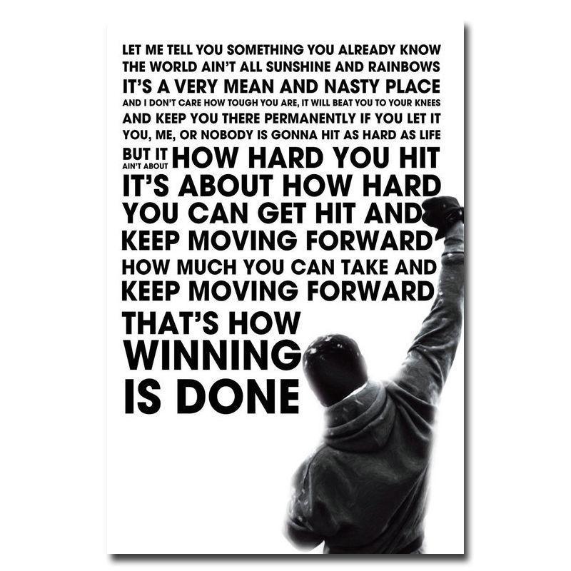 50 70 Cm Rocky Balboa De Inspiración Motivación Movie Quote