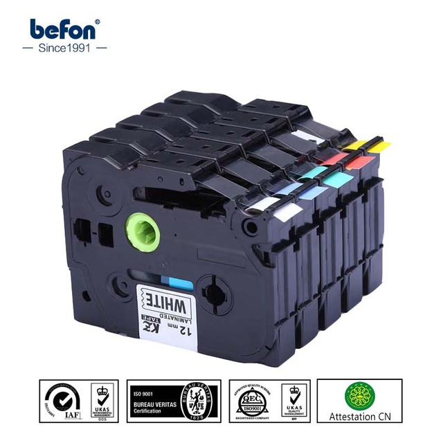 5pcs/lot Compatible for Brother P-touch Label Printer Printer Label Tapes TZ TZe 5 Colors 12MM TZE-231 TZE-431 TZE531 TEZ631 TZE
