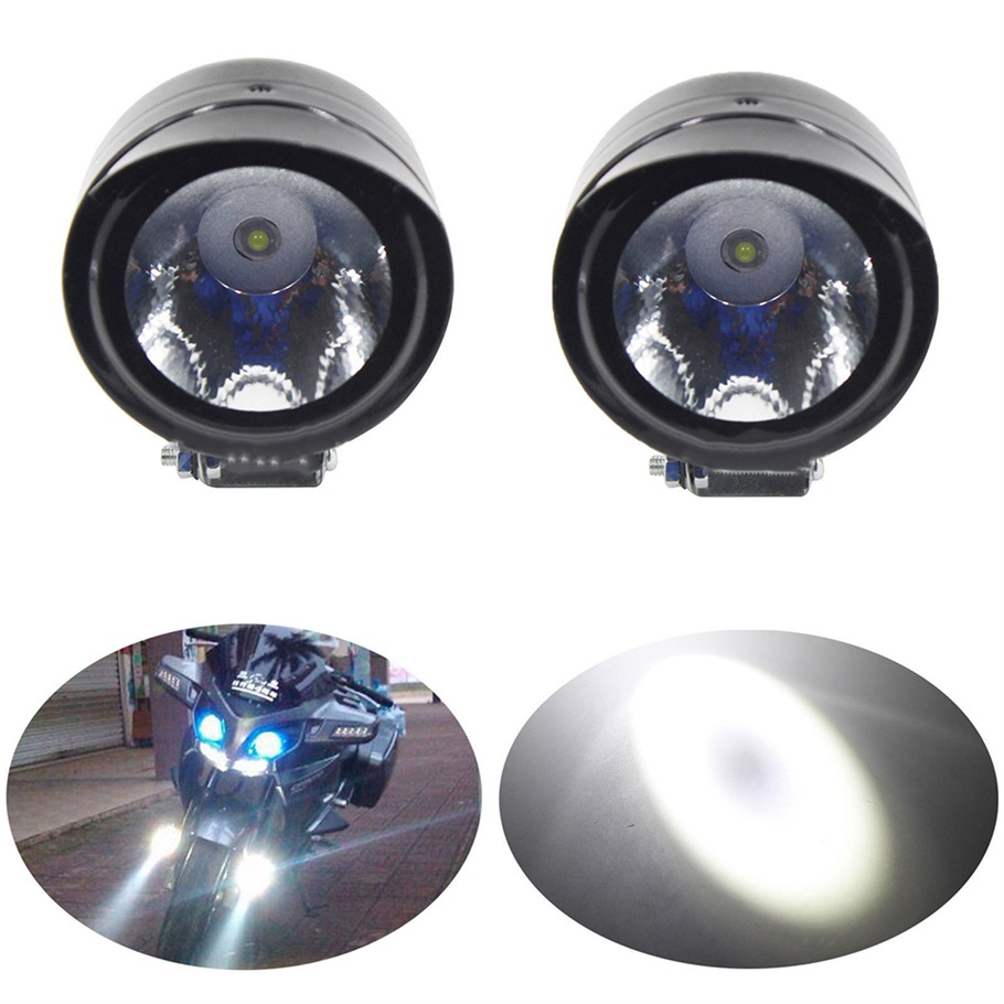 2 Pieces Motorcycle Lamp 12V 5W 220-230LM Universal Bright White LED Fog Spot White Light Headlight Hot Selling