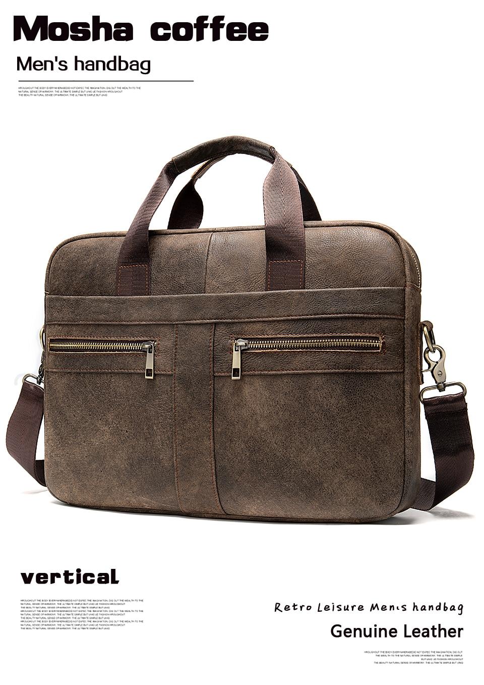 HTB1TrsDa7L0gK0jSZFAq6AA9pXaB WESTAL Bag men's Genuine Leather briefcase Male man laptop bag natural Leather for men Messenger bags men's briefcases 2019