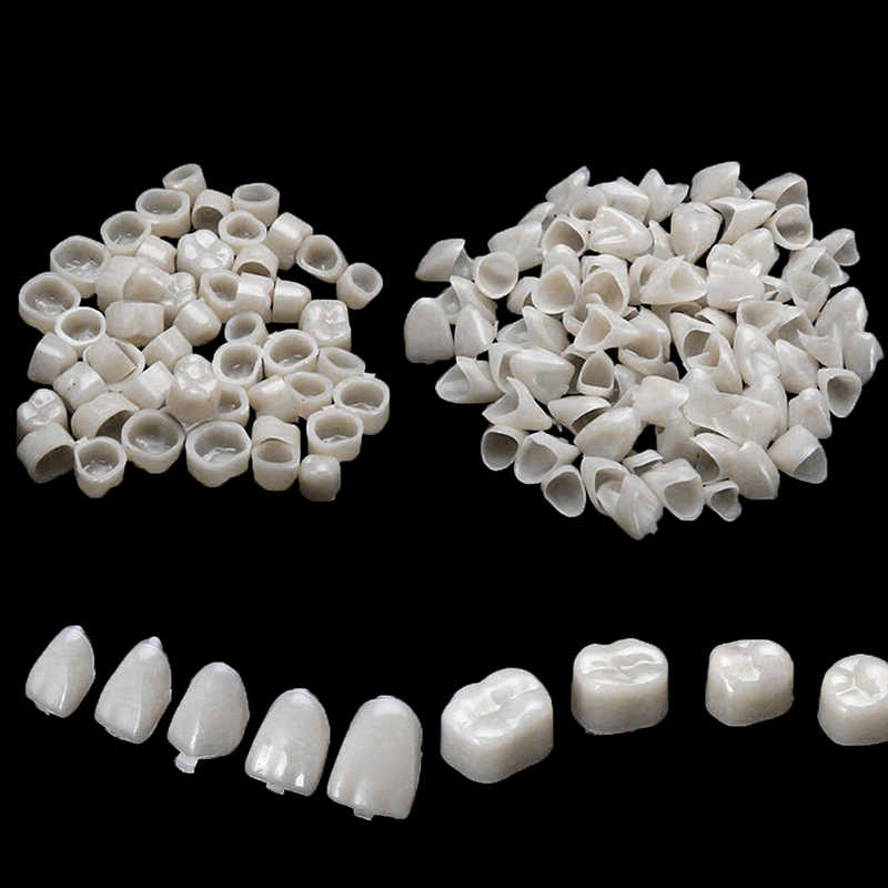 2 bags  Dental Teeth Veneers Ultra Thin Whitening Resin Molar Anterior Temporary Crown Porcelain Dental Material Oral Care Tool