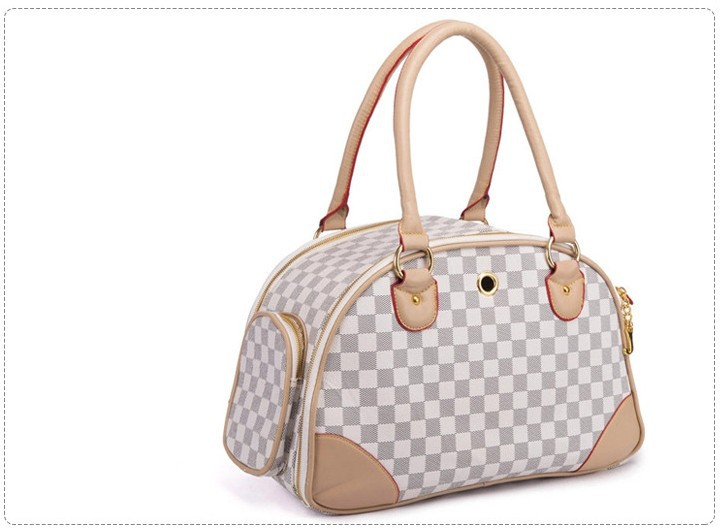 Leather Cat Carrier Travel Handbag