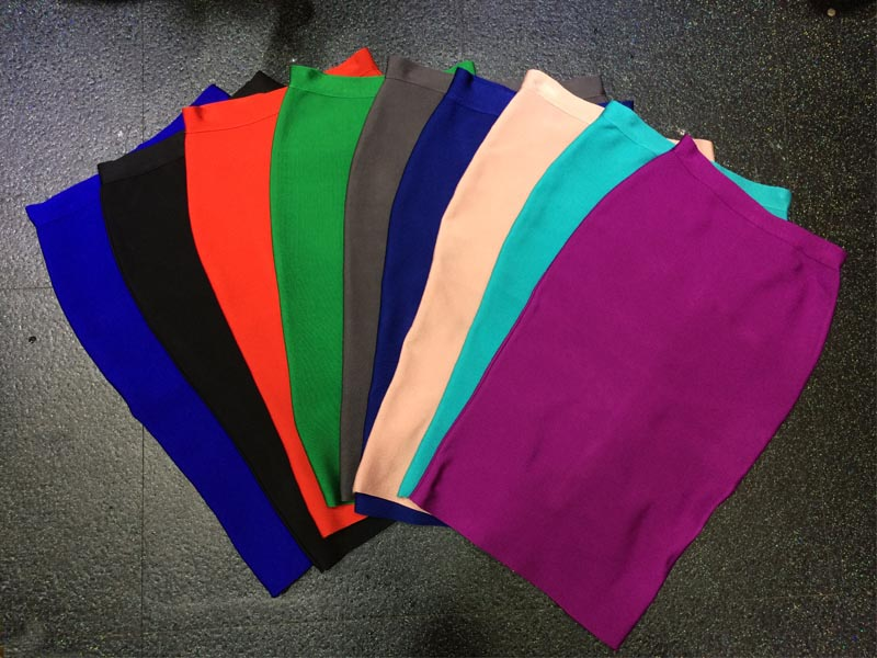Wholesale 2016 New High Quality Stretch Knit Skirt Multiple Fashion Wild Colour Bandage Skirt H0924