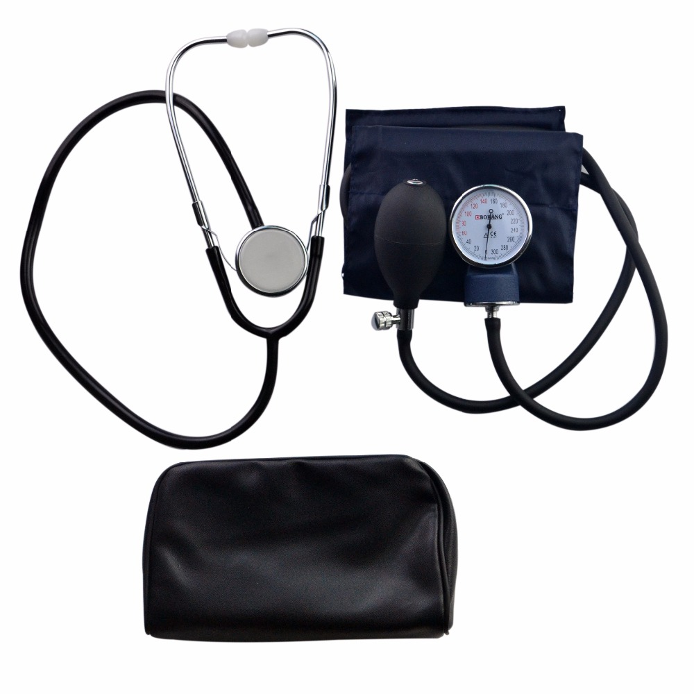 Health Care Professional Medical Blood Pressure Monitor Stethoscope Meter Estetoscopio Aneroid Sphygmomano Measure Device glucose meter with high quality accessories urine disease glucose meter test article 50 pc free blood 50 pcs of health care