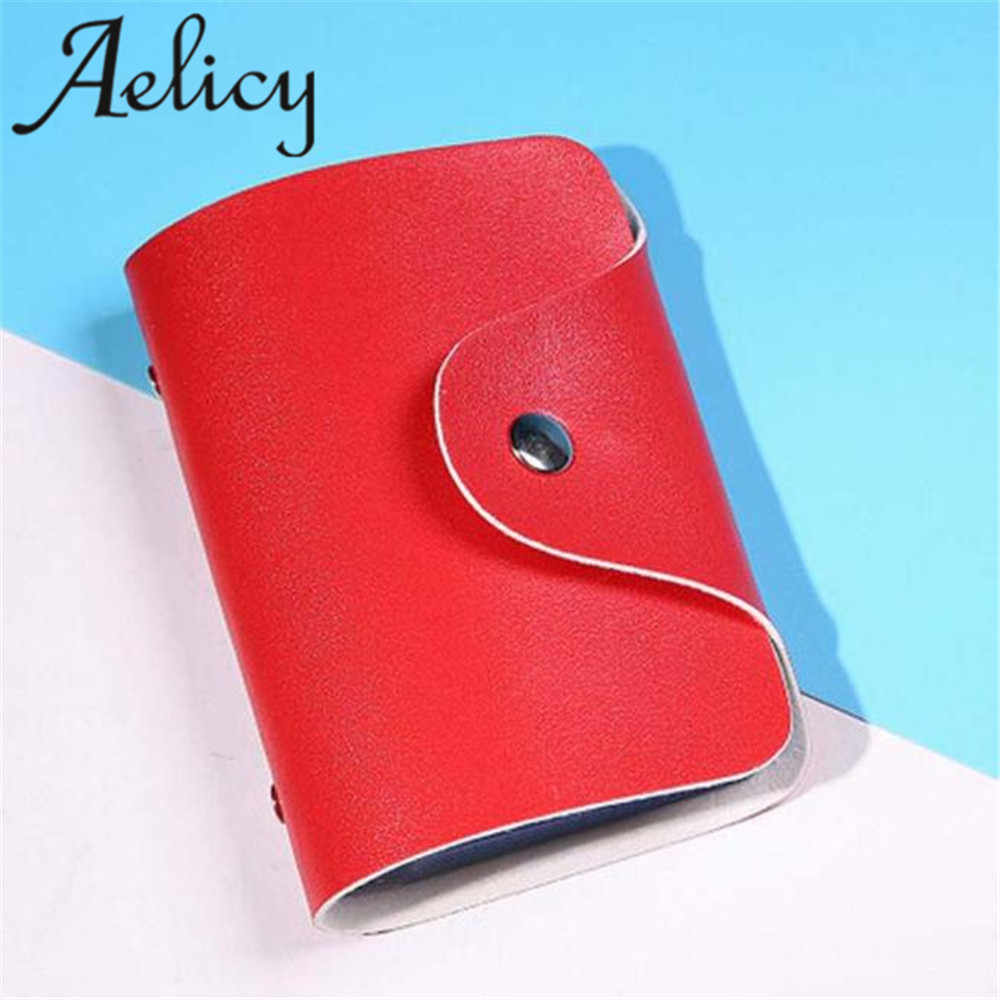 Aelicy 2018 Hot Cards Fashion Men Women Pocket 24 Cards ID Credit Travel Credit ID Business Card Holder Pocket Wallet Case
