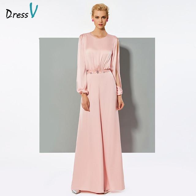 Vestido largo elegante de manga larga vestido de noche de gasa para fiesta  de boda formal 8df5ffad2469