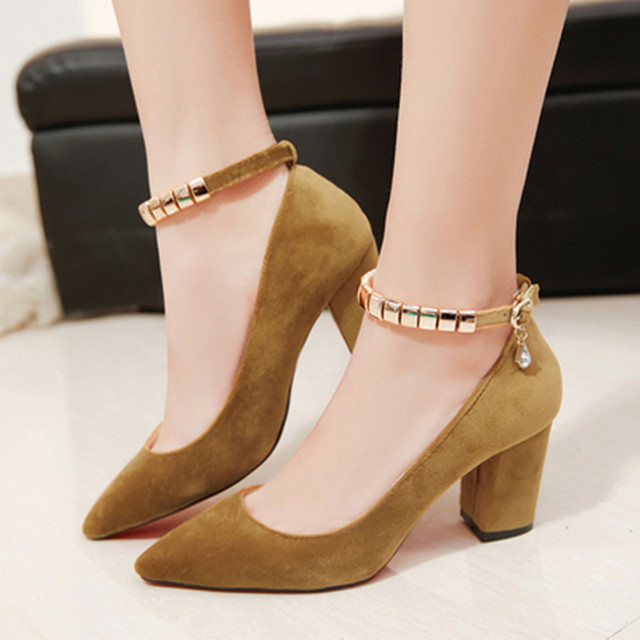 Shoes Woman 2017 New Shallow Mouth Suede With Women Shoes High Heel 34-39 chaussure femme talon Zapatos Mujer Sapato Feminino