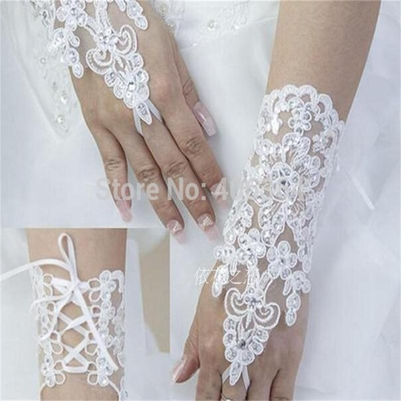 Buy 2015 free shipping new design lace for Wedding dresses with gloves