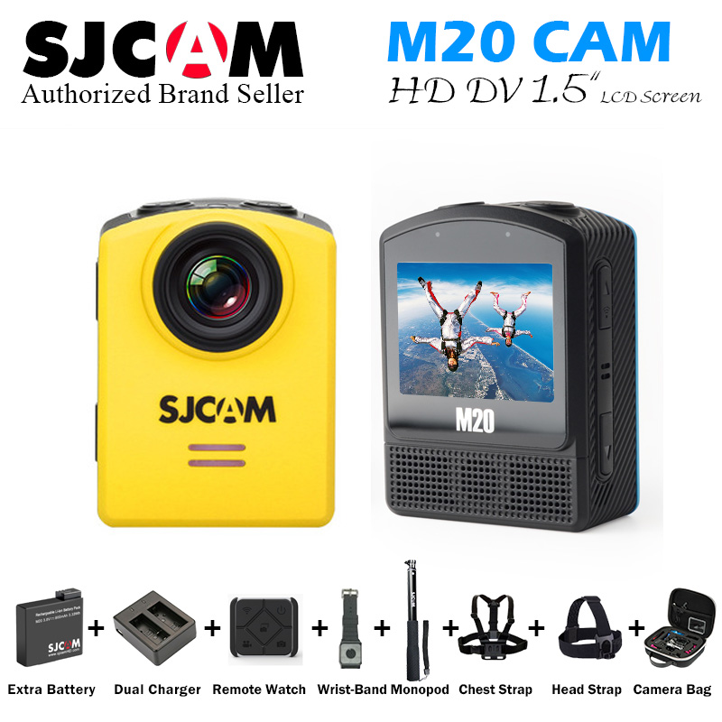 Original SJCAM M20 WiFi 4K 24fps 2K 30fps Gyro Mini Action Helmet Sports DV Camera NTK96660 2160P HD 16MP RAW Waterproof DV