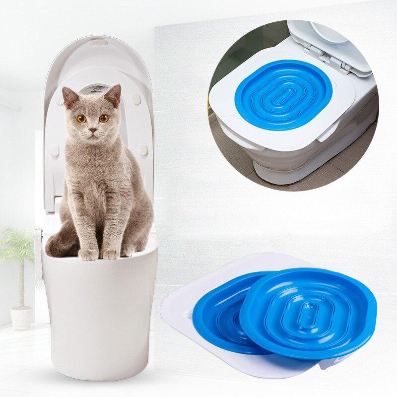 Neue Bequeme Haustier Toilettentrainer Katzentoilette Wurf Trainer Katze Training liefert über 40*40*3,5 cm Tropfen verschiffen Beste