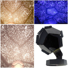 3 Colors Romantic Astro Star Sky Laser Projector Cosmos Night Light Lamp Starlight Projection Lamp Kit With Lamp Bulbs