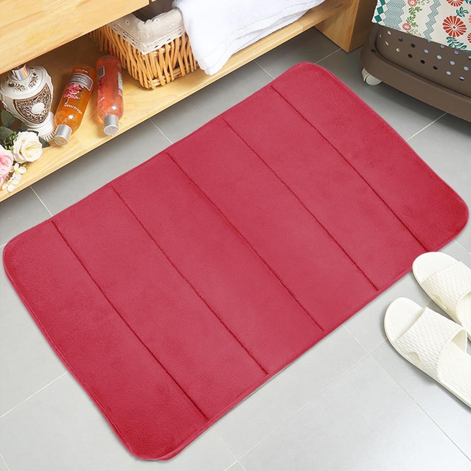Junejour 40*60cm Bath Mat Bathroom Carpet Rug coral fleece Memory Foam  Bathroom Mat kitchen Door Floor tapis de bain