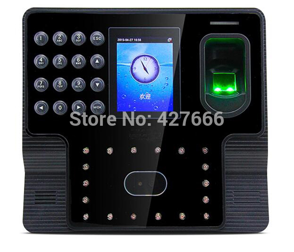 ZK iface102 Biometric Facial & Fingerprint Time Attendance ZK Face Time Clock Machine With Free Software