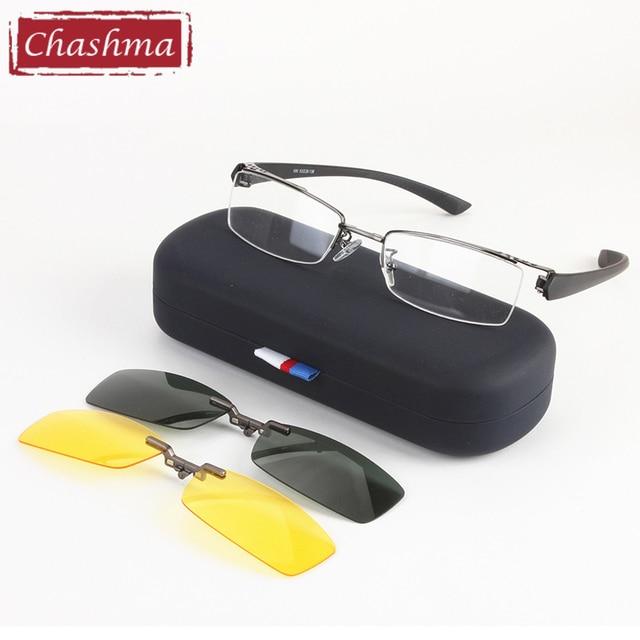 Chashma Men Fishing and Driving Qualtiy Optical Mopia Glasses Frame  Clip Fishing Polarized Sunglasses
