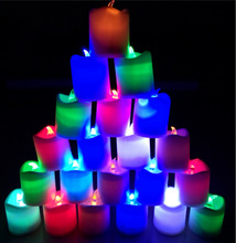 Manufacturers selling light-emitting LED electronic candles A colorful birthday candles light street selling creative simulation