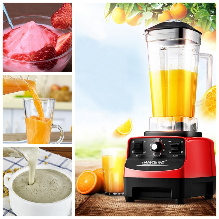 High Quality 2 Liter Heavy Duty Commercial Blender Mixer Juicer Food Processor 1hp 1500w heavy duty commercial blender mixer juicer high power food processor ice smoothie bar fruit electric blende