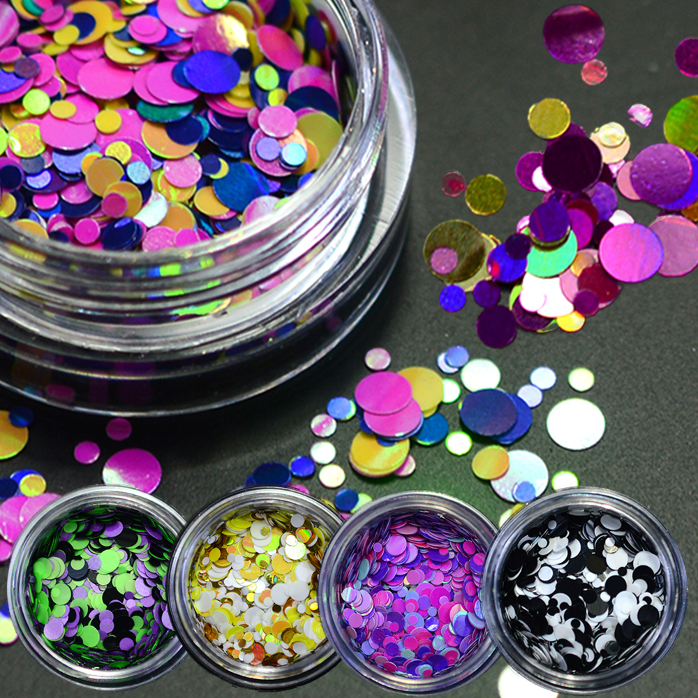 1g thin paillette mixed mini round nail art glitter decoration shining manicure nail tip design. Black Bedroom Furniture Sets. Home Design Ideas