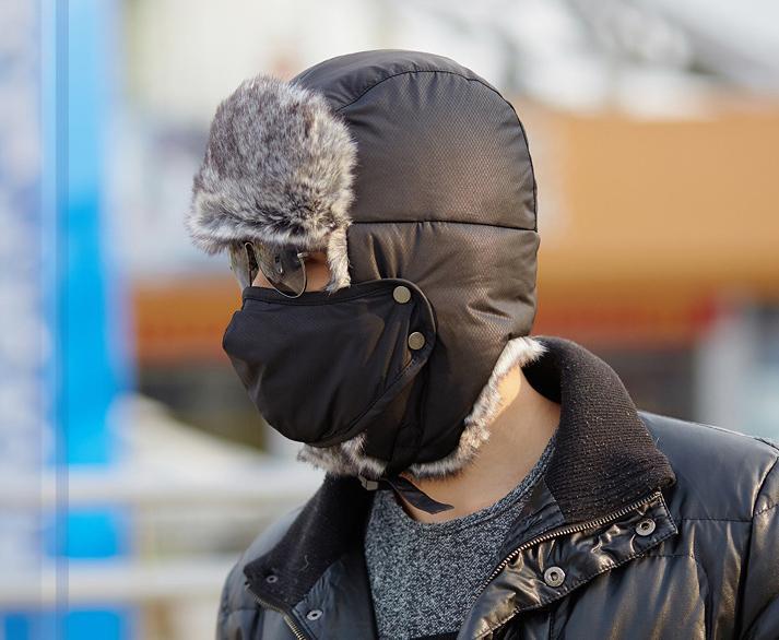 Bomber-Hats Russian-Hat Ushanka Flaps-Cap Aviator Snow 60pcs/Lot Fur Ear Outdoor Sports
