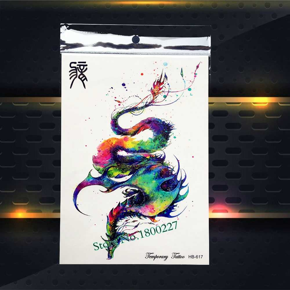 9484107a5 ... 1PC Hot 3D Ganesha Water Transfer Fake Tattoo Stickers Men PQS-A039 Queen  Crown Elephant ...