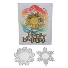 Cutting Dies 1pcs Flower Shape Cutting Dies Cutting Embossing Stencil Template for Paper Card Decor Art Craft Album Scrapbooking(China)