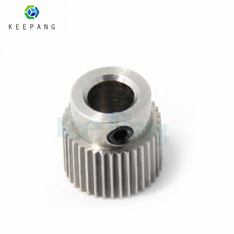 1pc 3d printer extruder gear MK7 MK8 extruder gear Stainless Steel 36 Teeth Extrusion Wheel For imprimante 3d accessoire die steel feeding extrusion wheel for 3d printer black