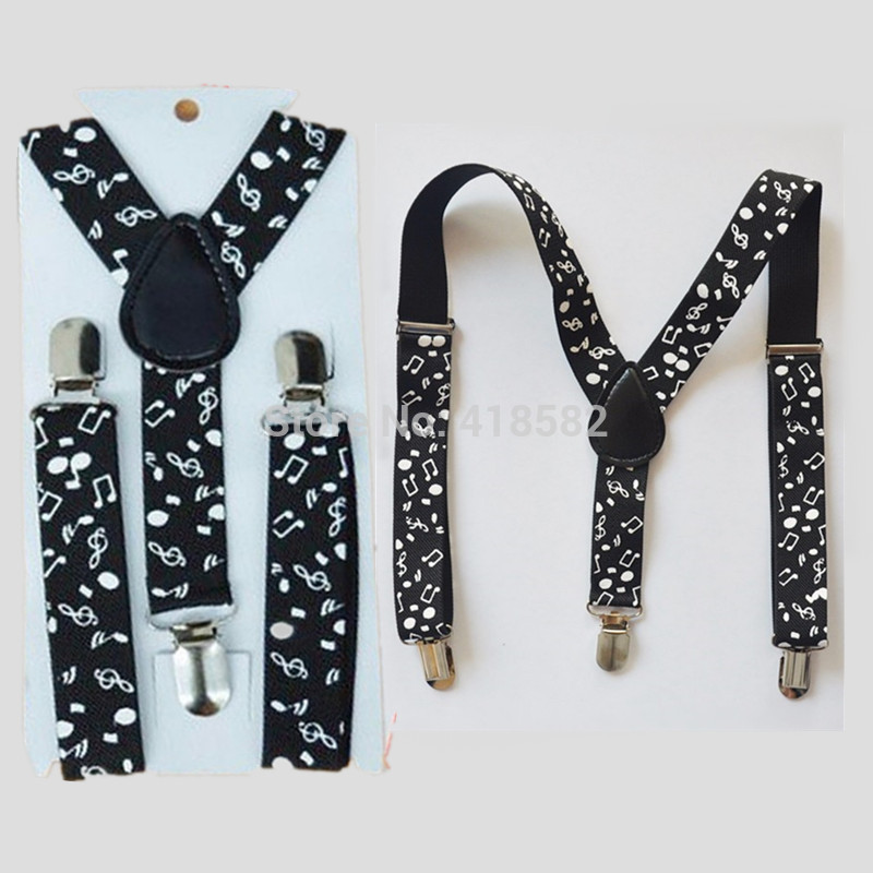 BD018-S SizeBaby Photo Prop Music Note Printing Suspender For 1-8 Years Boys And Girls Y-back Braces Free Shipping