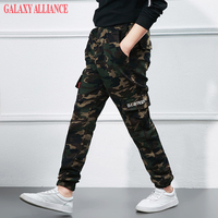 New Arrival 2017 Boys Camouflage Pants Spring And Autumn Kids Casual Trousers Big Boy Cargo Pants