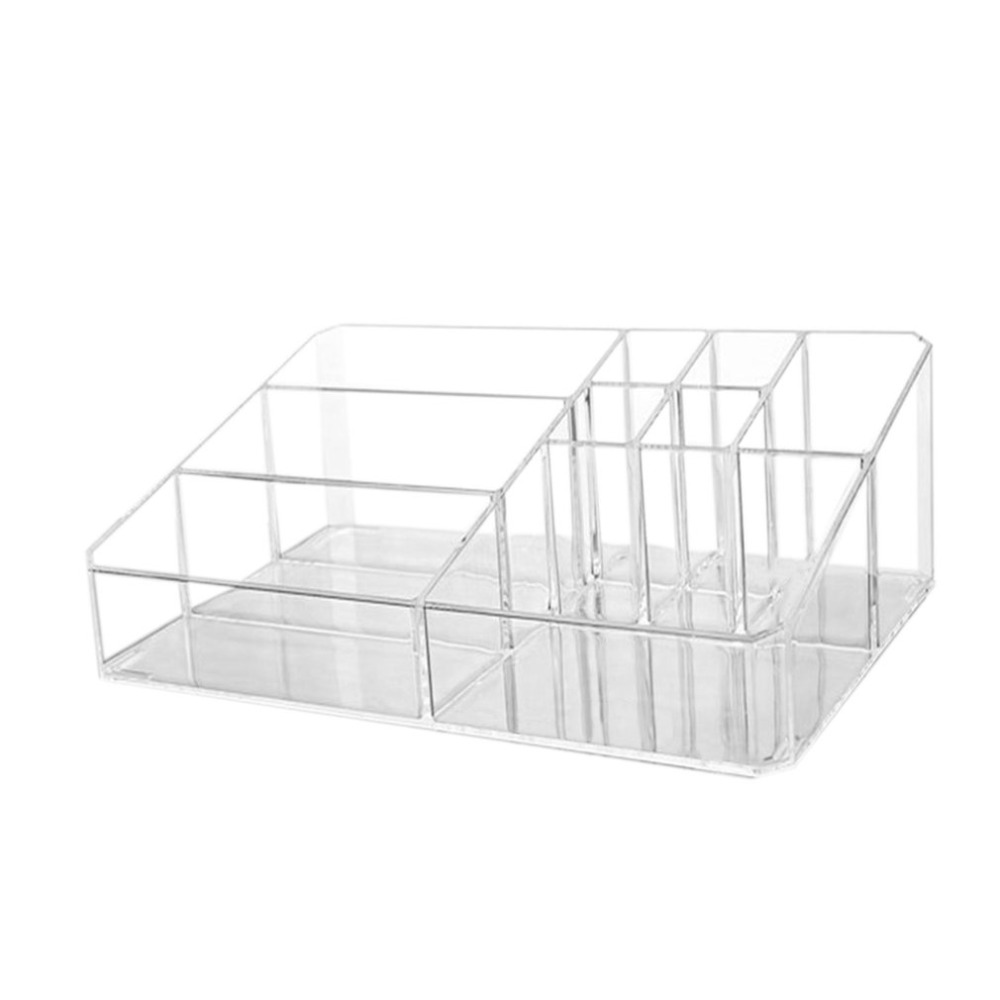 Korean Fashion Multifunctional Acrylic Makeup Arrangement Storage Box Transparent Multi-Slots Desktop Cosmetic Organizer