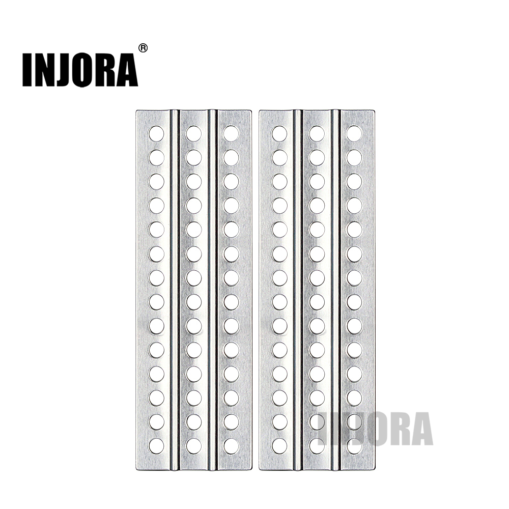 INJORA 2PCS RC Car Metal Sand Ladder Recovery Board For 1:10 RC Crawler Axial SCX10 Tamiya CC01 D90 D110 TF2 Traxxas TRX-4