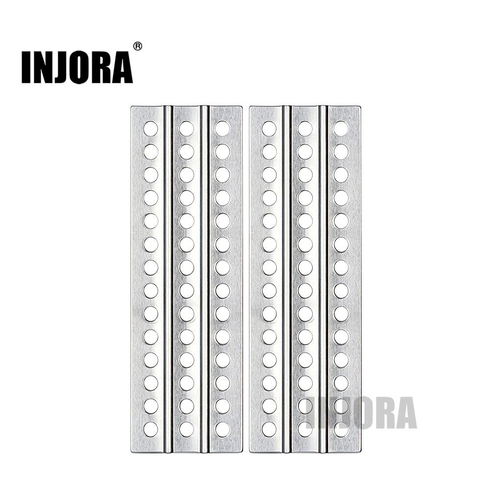 INJORA 2PCS RC Car Metal Sand Ladder Recovery Board For 1:10 RC Crawler Axial SCX10 Tamiya CC01 D90 D110 TF2 Traxxas TRX-4