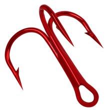 100 шт./лот рыболовные тройные Крючки из высокоуглеродистой стали, круглые изогнутые тройные рыболовные крючки для ловли окуня, 2#4#6#8#10# рыболовные крючки