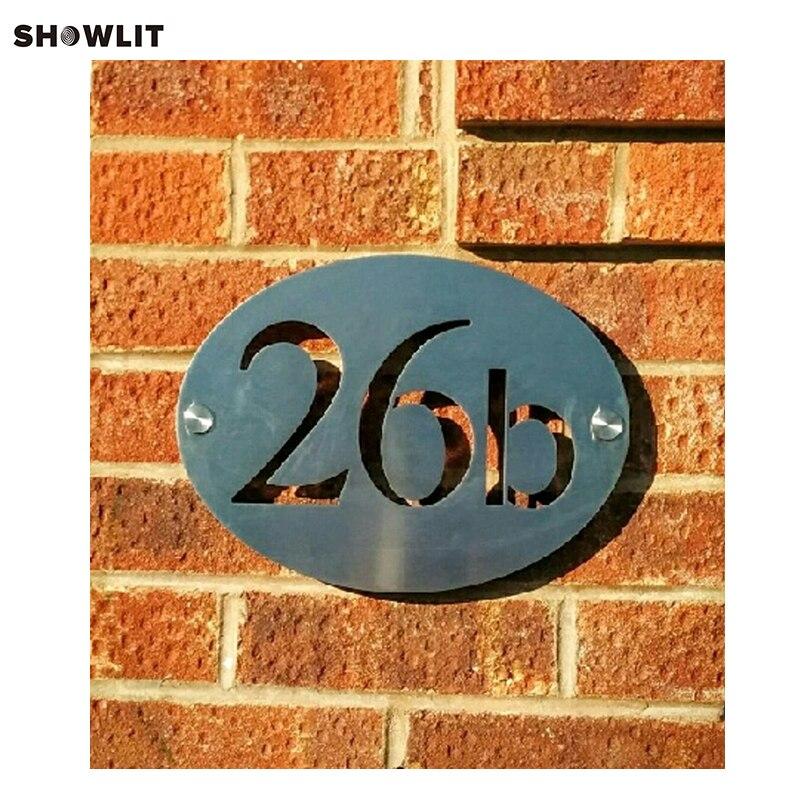 House numbers modern door plateHouse numbers modern door plate