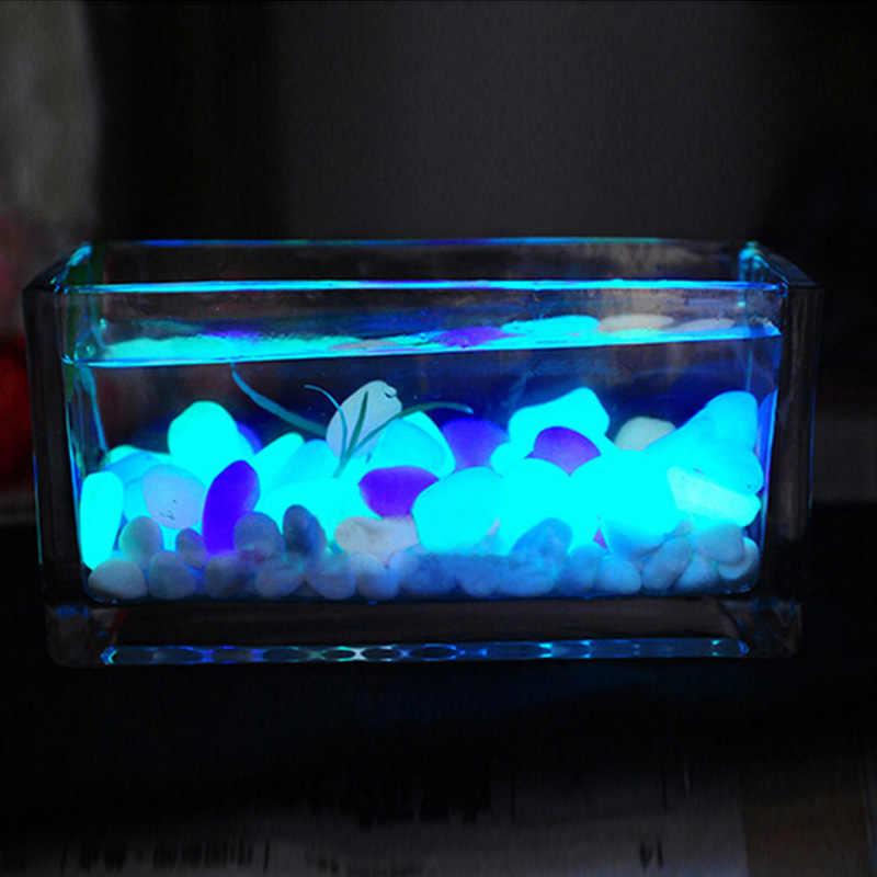 10 قطعة حوض للأسماك الزينة ديكور المنزل حلية توريد الحصى الاصطناعي الحجارة توهج في الظلام مضيئة الحصى حديقة