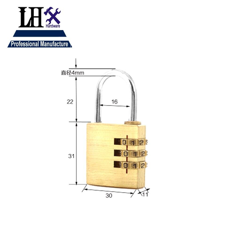 Новинка 2016 Топ моды 303 латунь 30 мм ширина 3 группы код замка используется для Gym bag подарок или коробки двери