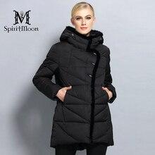 SpiritMoon 2017 New Women font b Winter b font Coat Hooded Parka font b Warm b