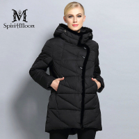 SpiritMoon 2017 New Women Winter Coat Hooded Parka Warm Female Thick Coat Bio Down Jacket With